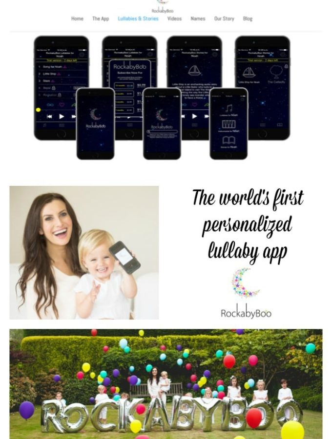 The Rockabyeboo App is the world's first  personalized lullaby app!