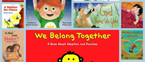 A collection of books for children about adoption @thatbaldchick