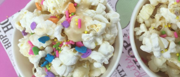 Cup of Springtime Marshmallow Popcorn
