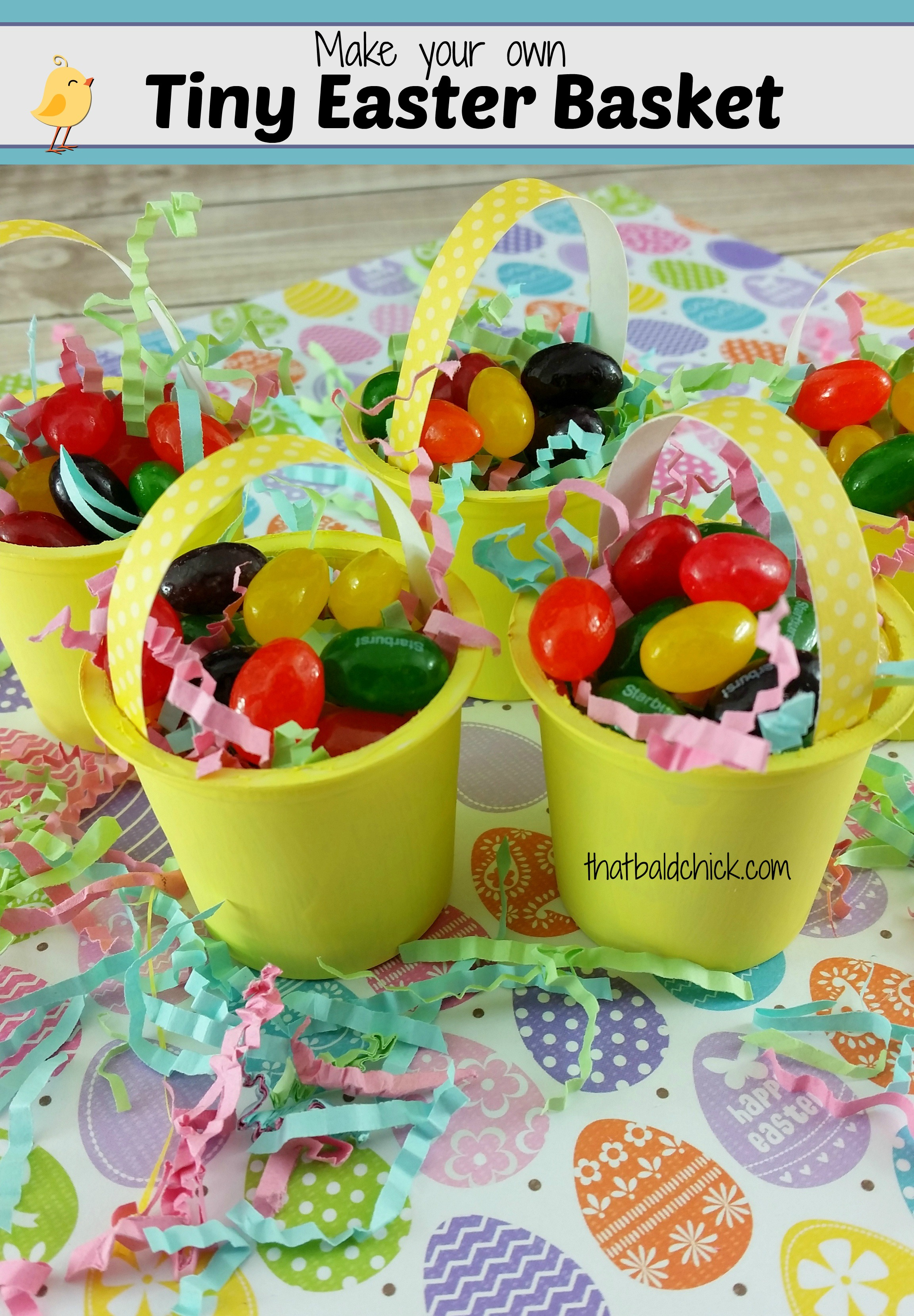Make Your Own Tiny Easter Basket Craft @thatbaldchick