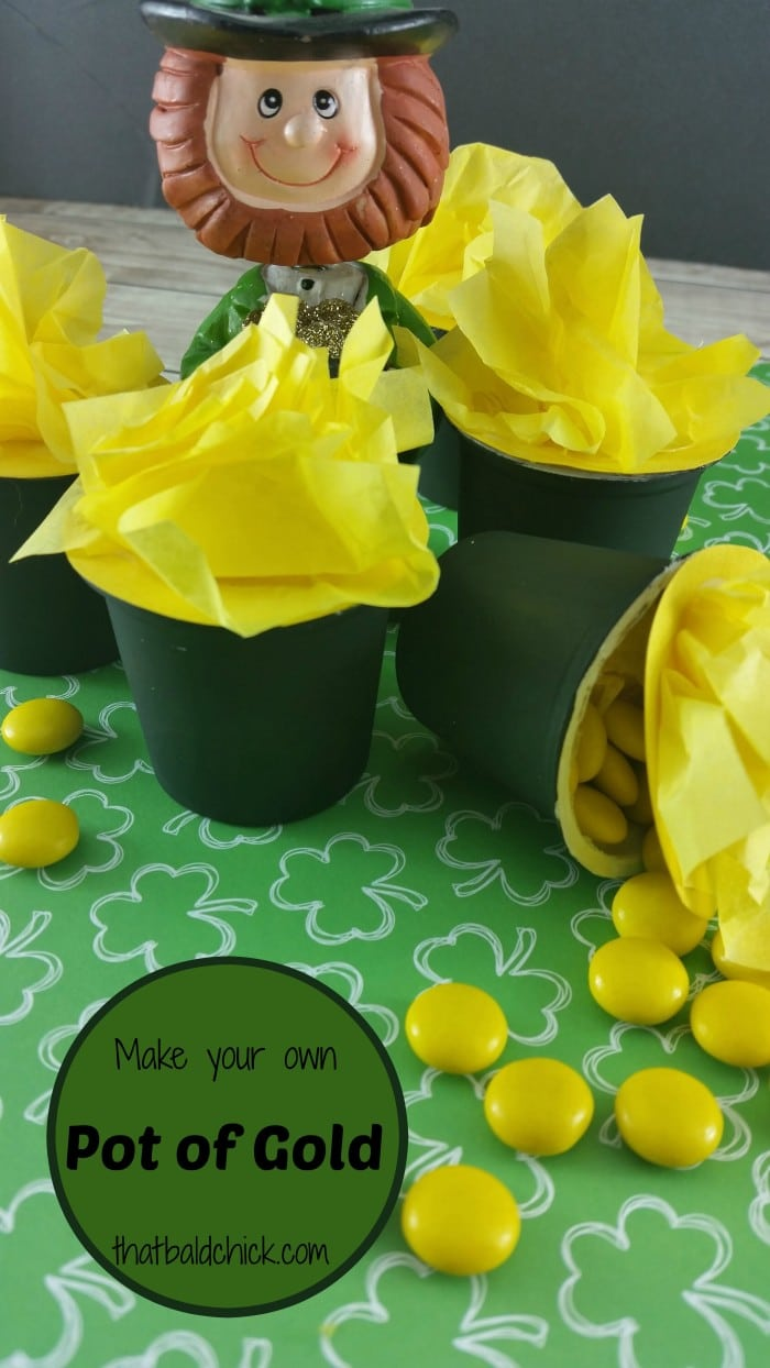 Make your own pot of gold craft @thatbaldchick