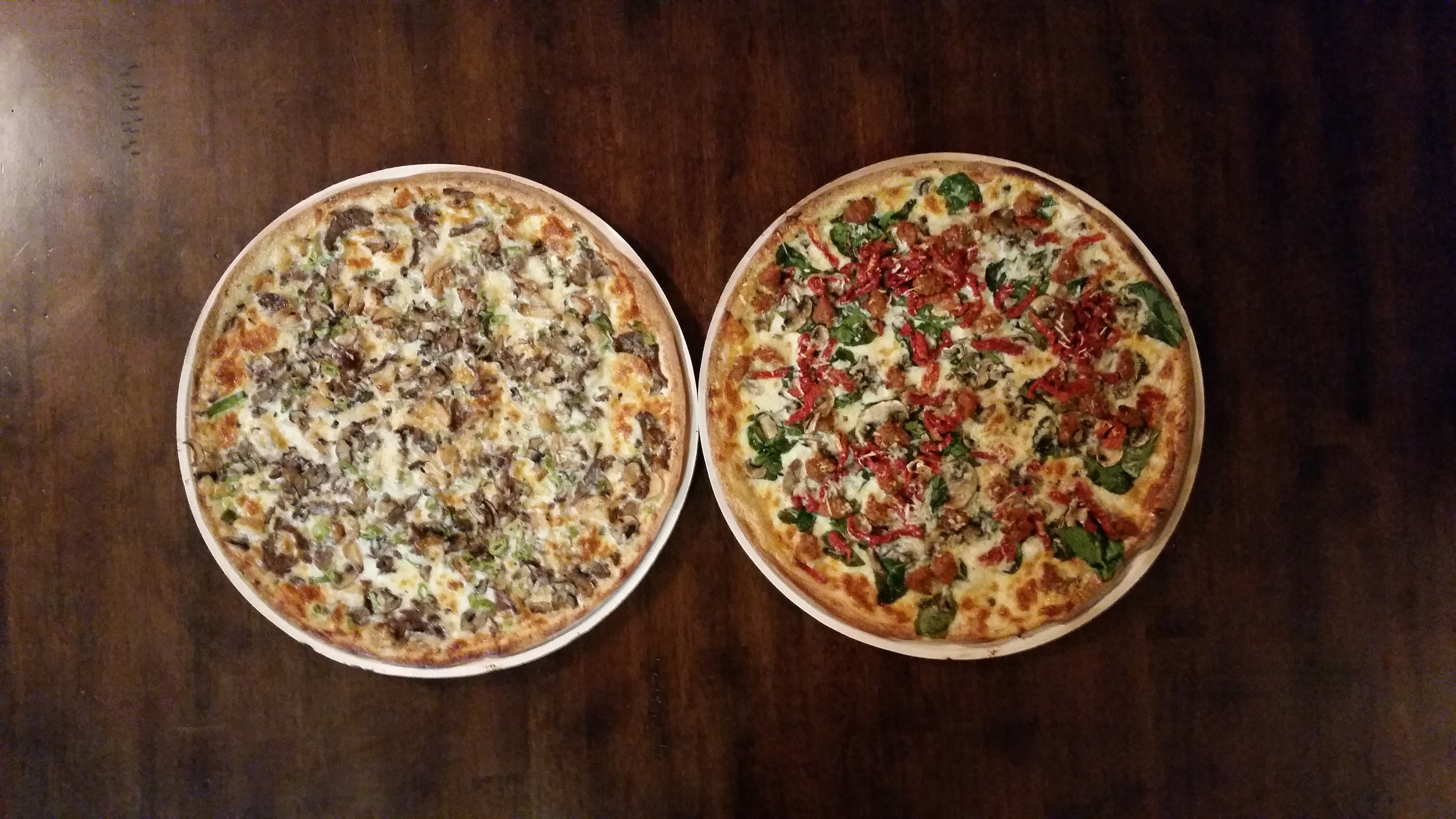 Papa Murphy's take and bake pizzas fresh from the oven