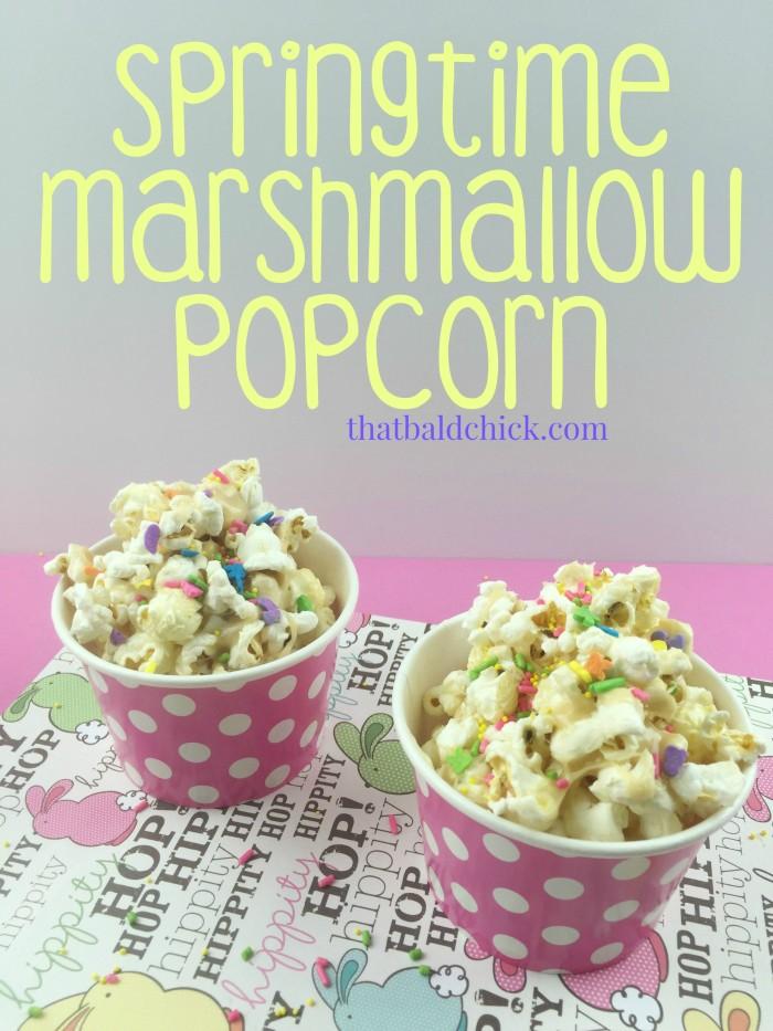 Springtime Marshmallow Popcorn Recipe @thatbaldchick