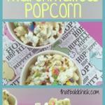 Gourmet Springtime Marshmallow Popcorn Recipe @thatbaldchick