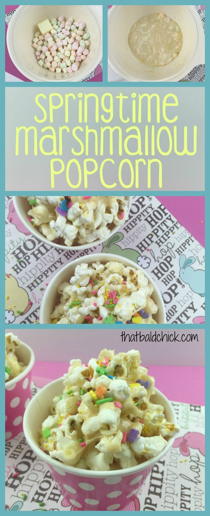 Make your own gourmet Springtime Marshmallow Popcorn with this recipe!
