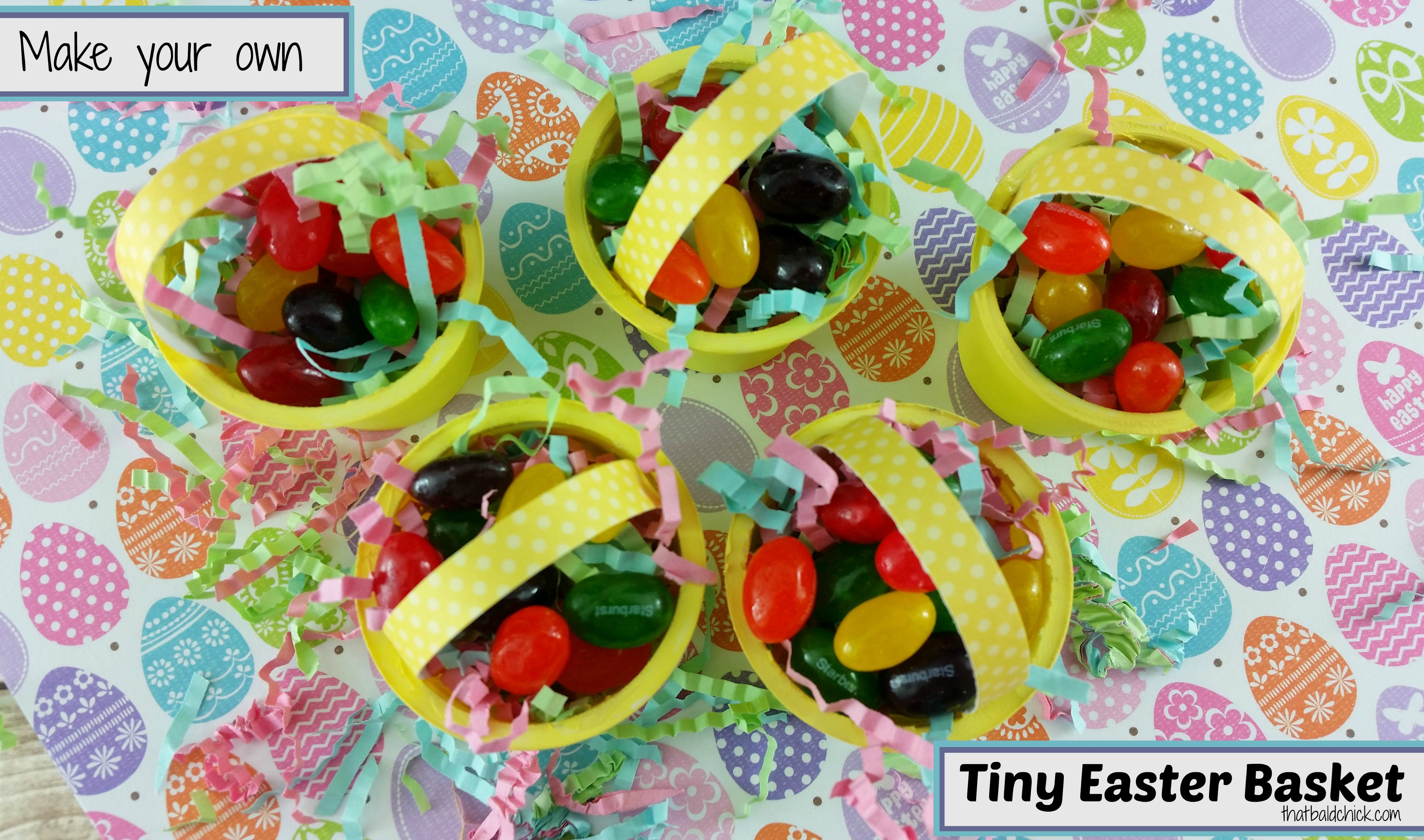 Tiny Easter Basket Craft @thatbaldchick