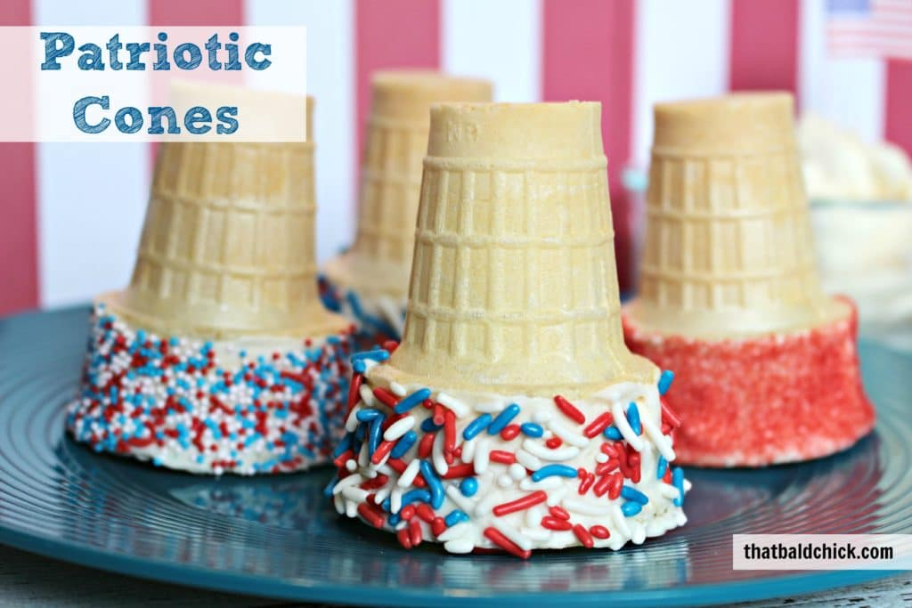 Patriotic Cones at thatbaldchick.com