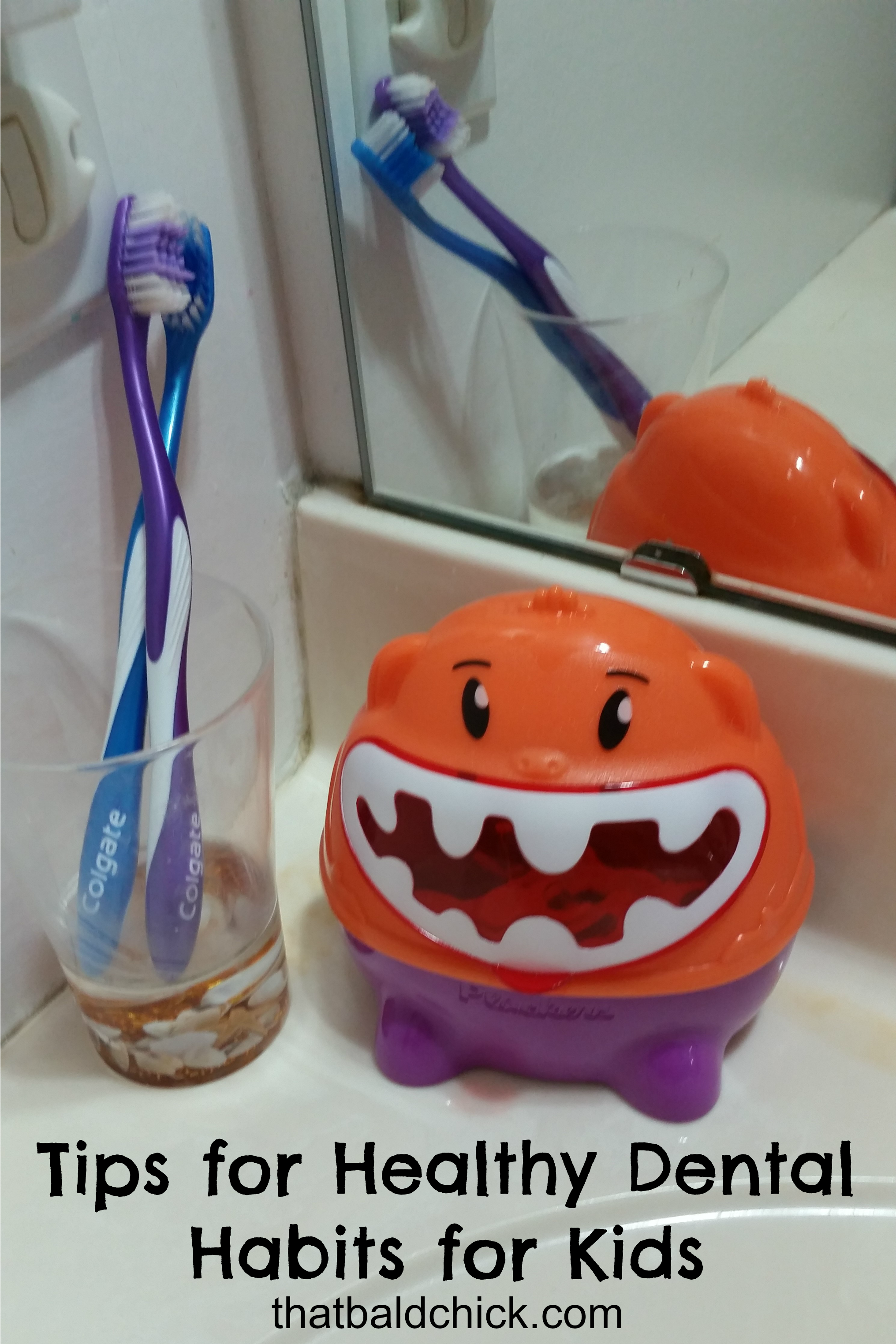 tips for healthy dental habits for kids @thatbaldchick