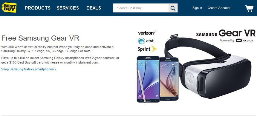 Samsung Mobile VR Offer