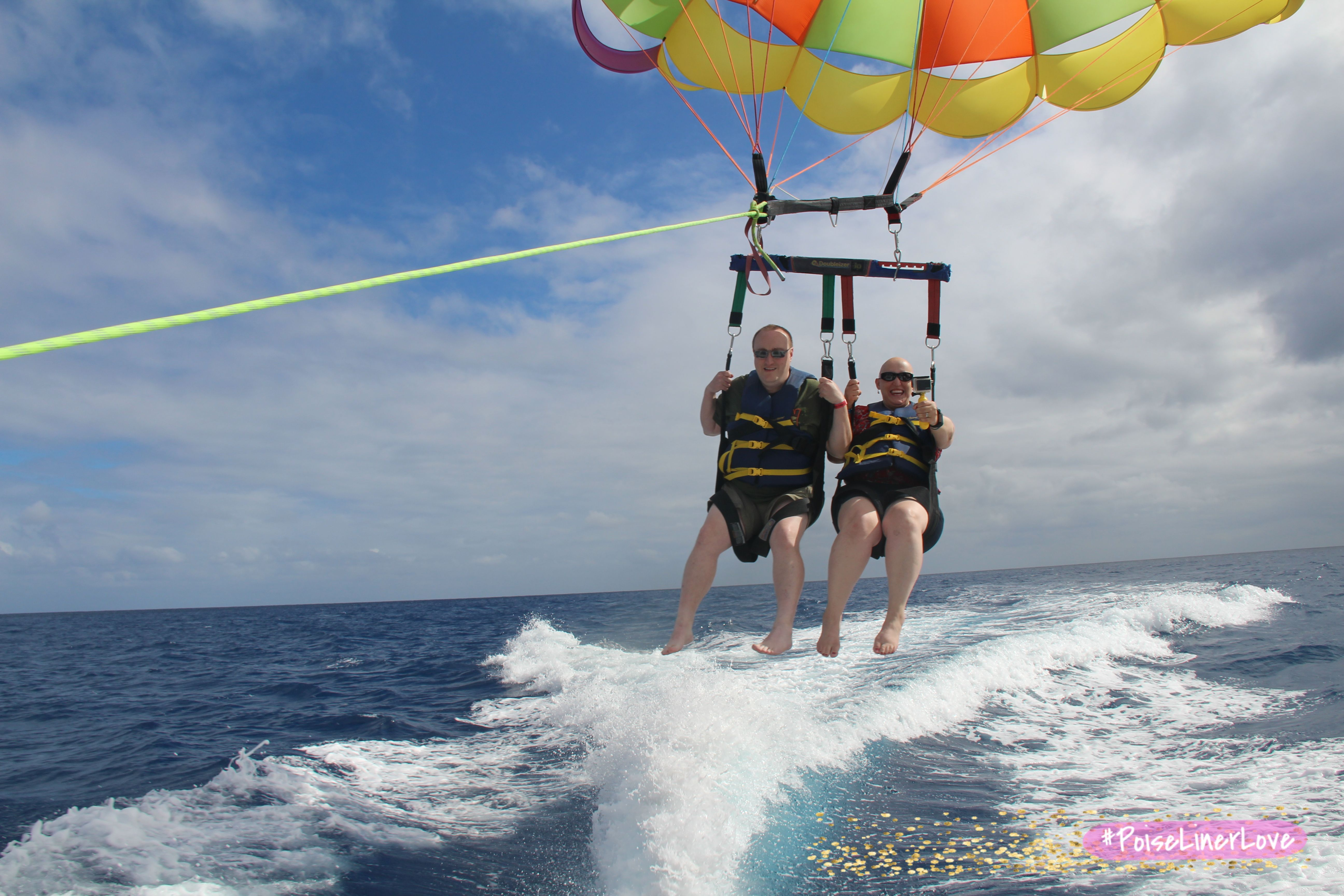 The sea breeze is the only moisture you want to feel when #parasailing over the ocean! #poiselinerlove #ad