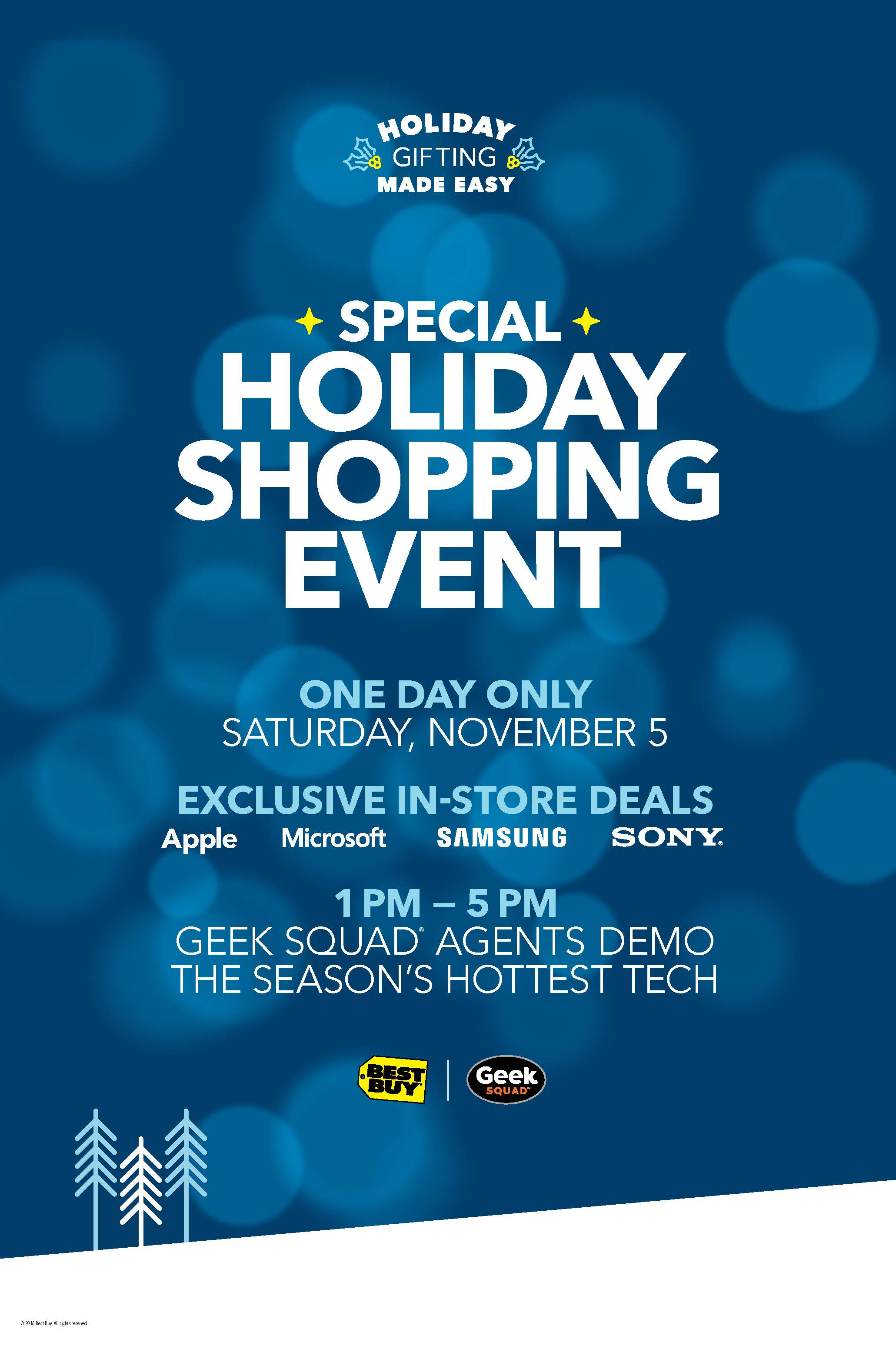 Best Buy Special Holiday Shopping Event on Saturday 11/5 in select Best Buy stores #ad http://bby.me/dg9w