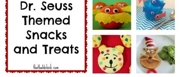 Dr Seuss themed snacks at treats at thatbaldchick.com