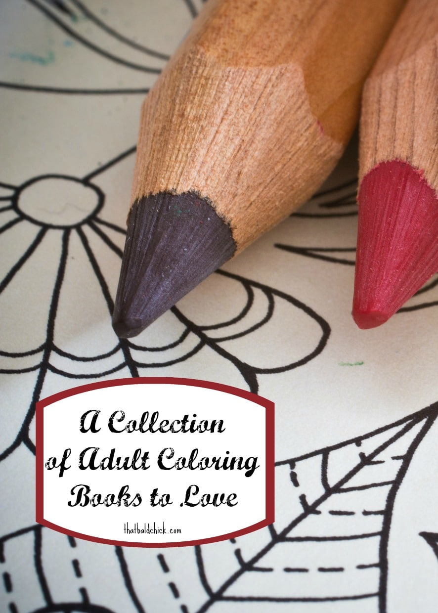 A collection of adult coloring books to love at thatbaldchick.com