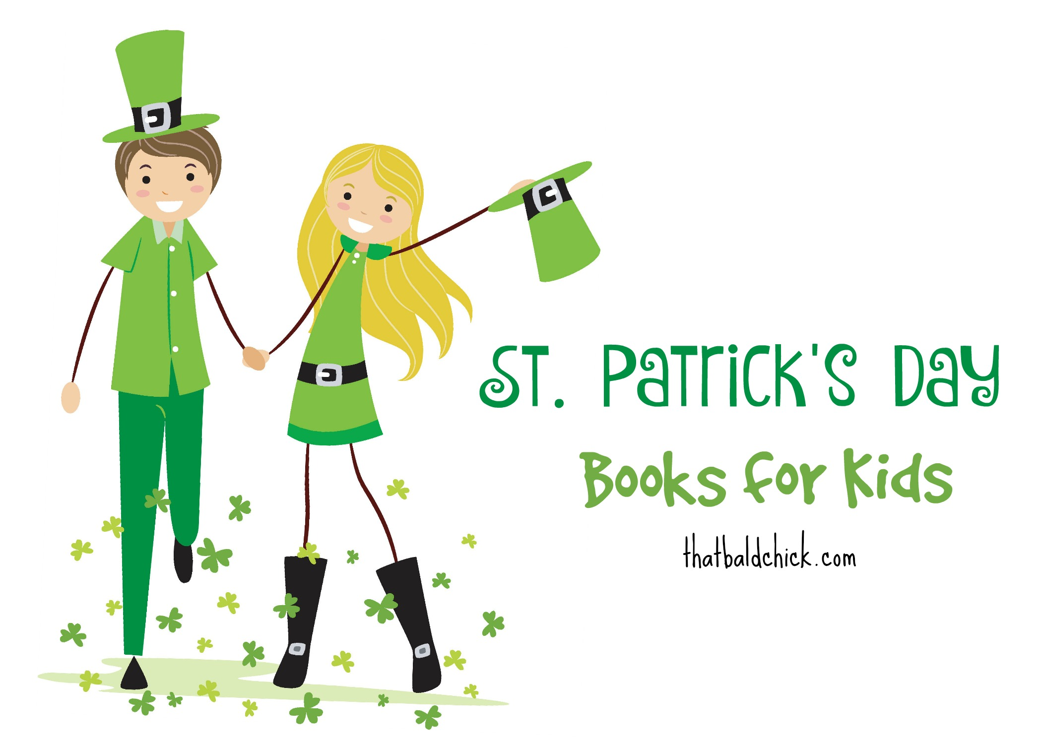 30+ kids books for St Patrick's Day at thatbaldchick.com