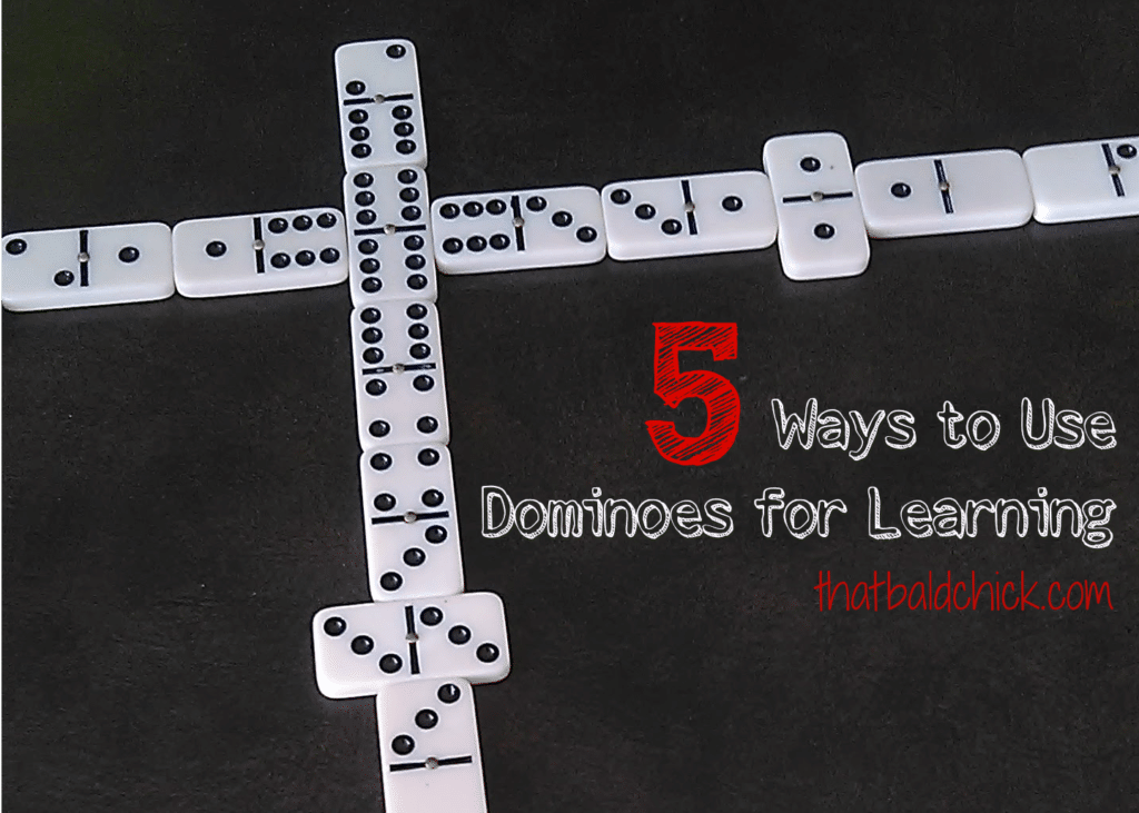 Different ways to use dominoes for learning at thatbaldchick.com