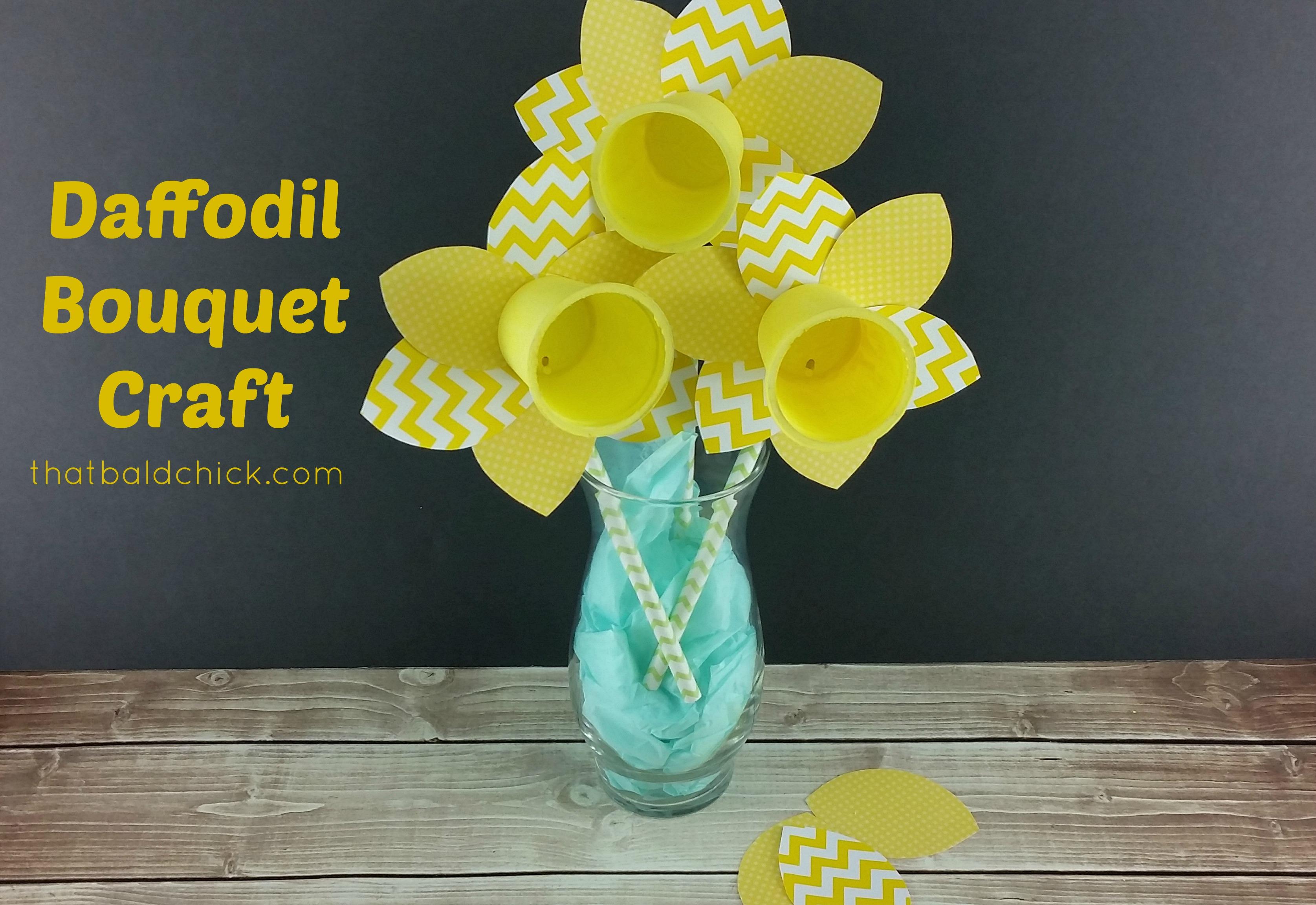 Daffodil Bouquet Craft at thatbaldchick.com