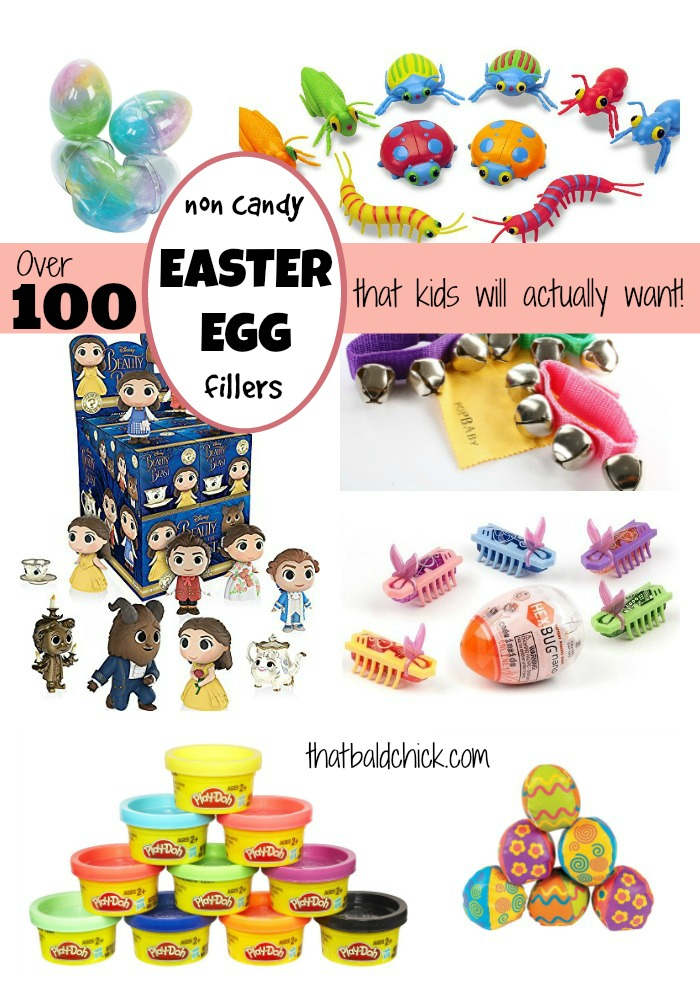 Over 100 Non Candy Easter Egg Fillers that kids will actually want at thatbaldchick.com