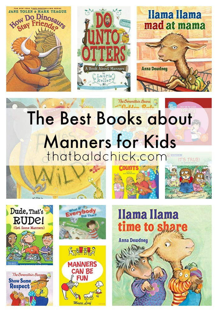The Best Books About Manners at thatbaldchick.com