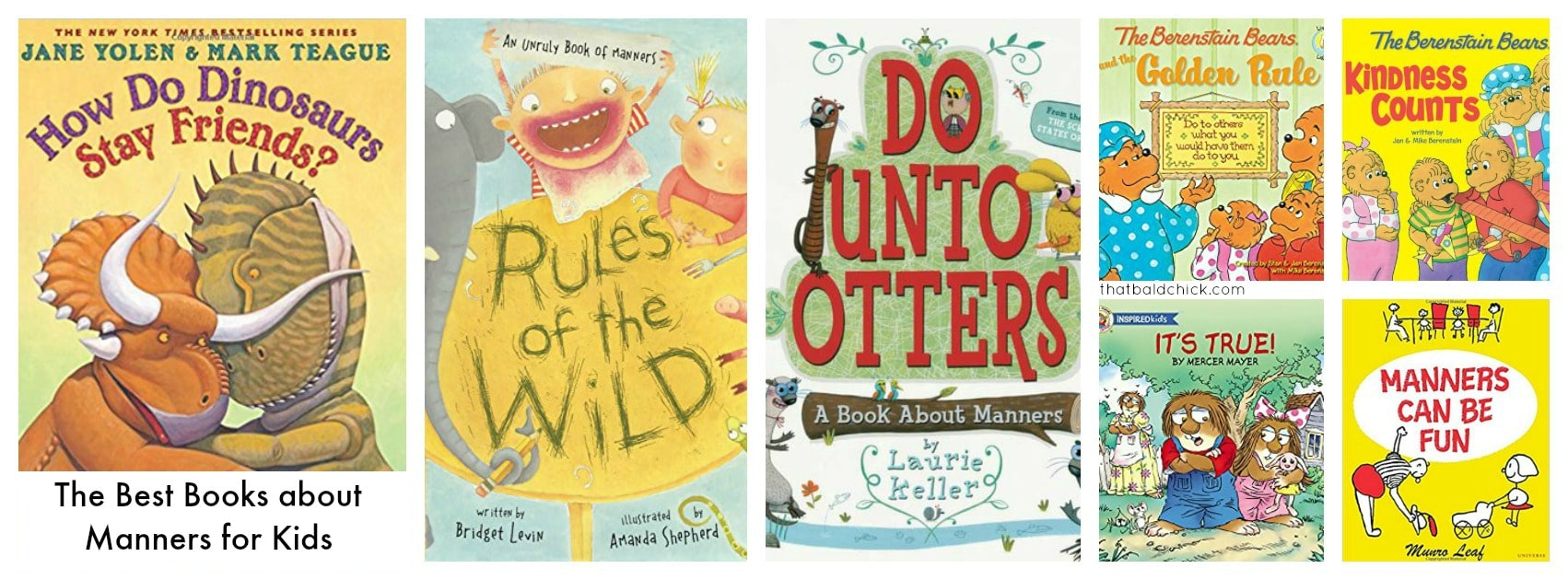 The best books about manners for kids at thatbaldchick.com