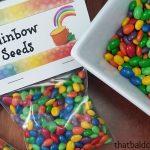 Rainbow Seeds Treat + free printable bag topper