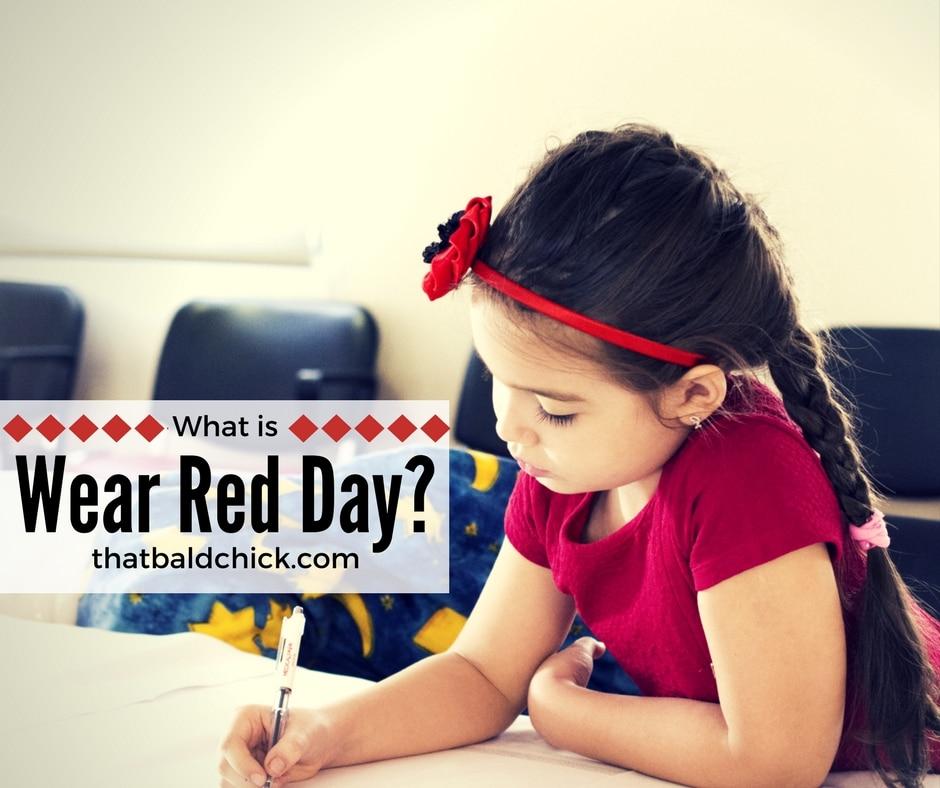 teach kids about wear red day at thatbaldchick.com