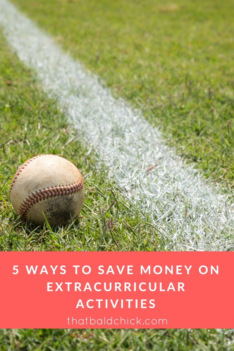 5 Ways to Save Money on Extracurricular Activities at thatbaldchick.com