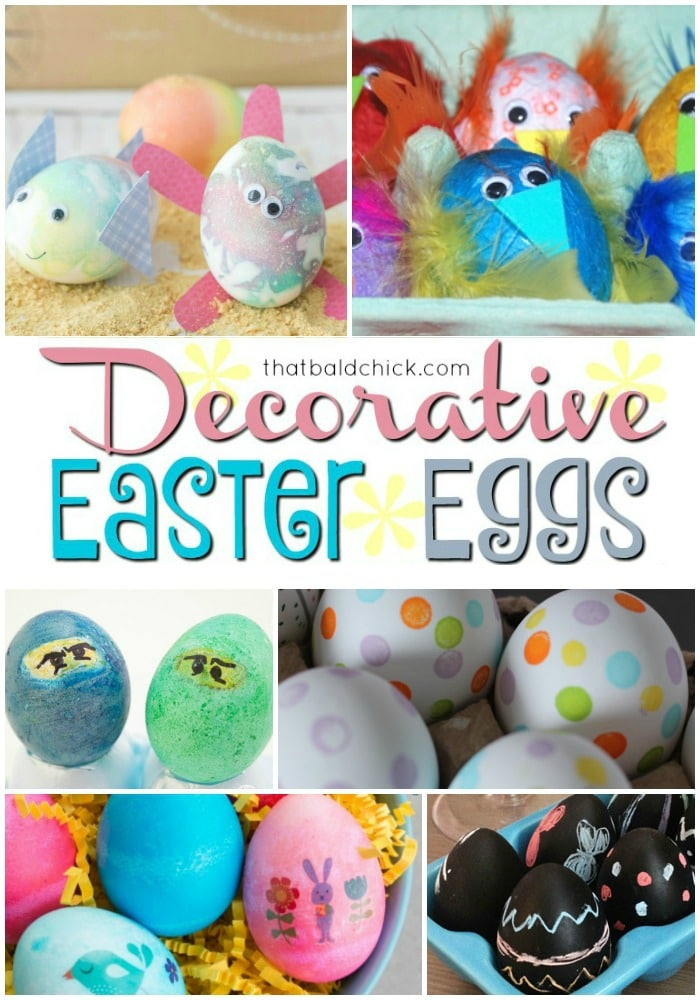 Decorative Easter Eggs at thatbaldchick.com