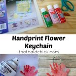 Handprint Flower Keychain