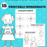 Fun with Robots Printable Workbook – New Subscriber Freebie