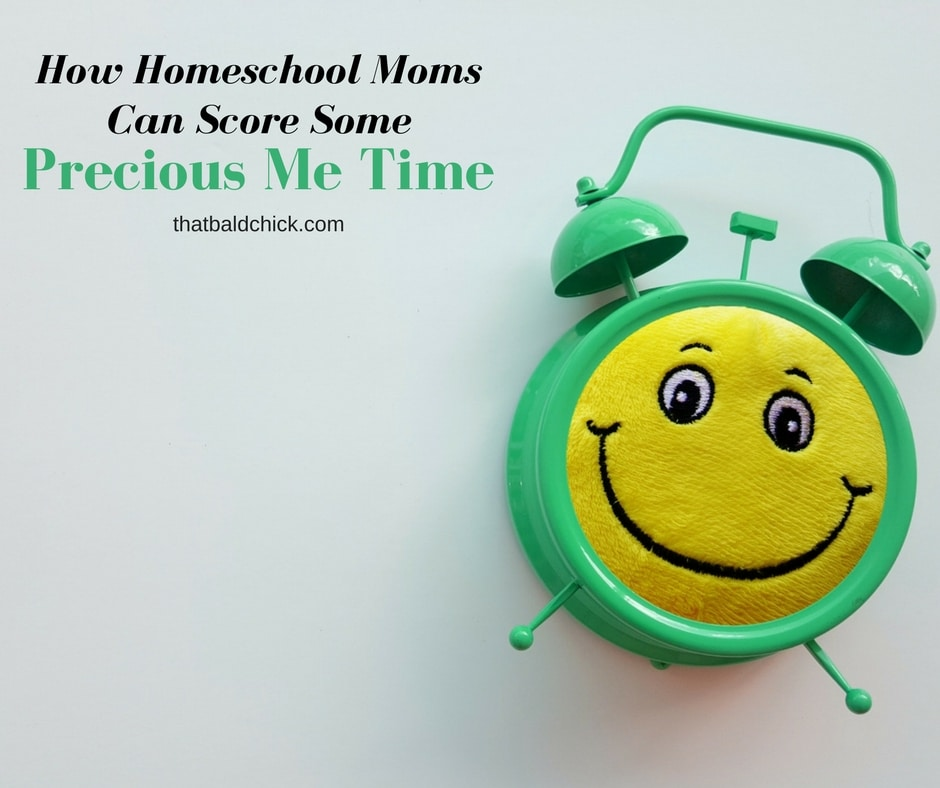 How Homeschool Moms Can Score Some Precious Me Time at thatbaldchick.com