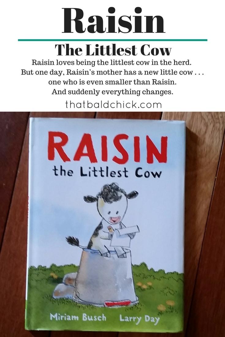 Raisin the Littlest Cow at thatbaldchick.com @thatbaldchick