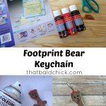Footprint Bear Keychain