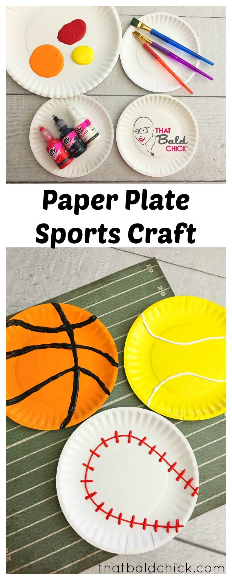 Paper Plate Sports Craft at thatbaldchick.com