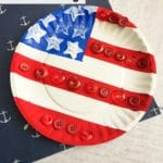 Paper Plate American Flag