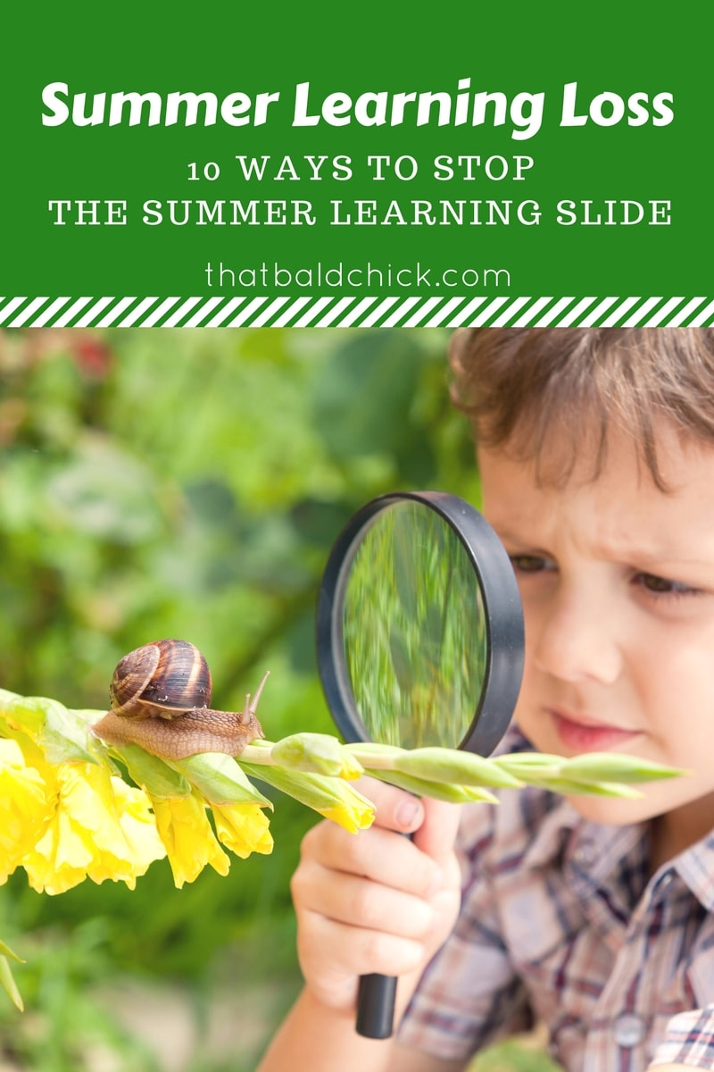 Ways to Prevent Summer Learning loss at thatbaldchick.com