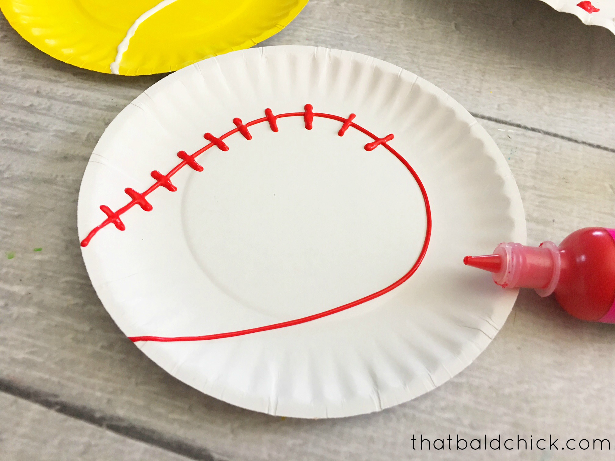 paper plate baseball at thatbaldchick.com & Paper Plate Sports Craft- That Bald Chick®