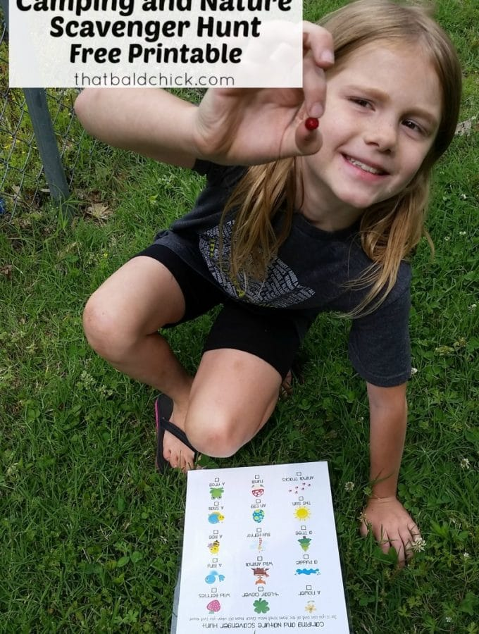 printable nature scavenger hunt at thatbaldchick.com