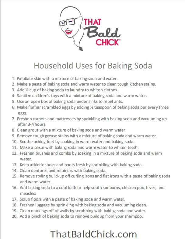 20 household uses for baking soda at thatbaldchick