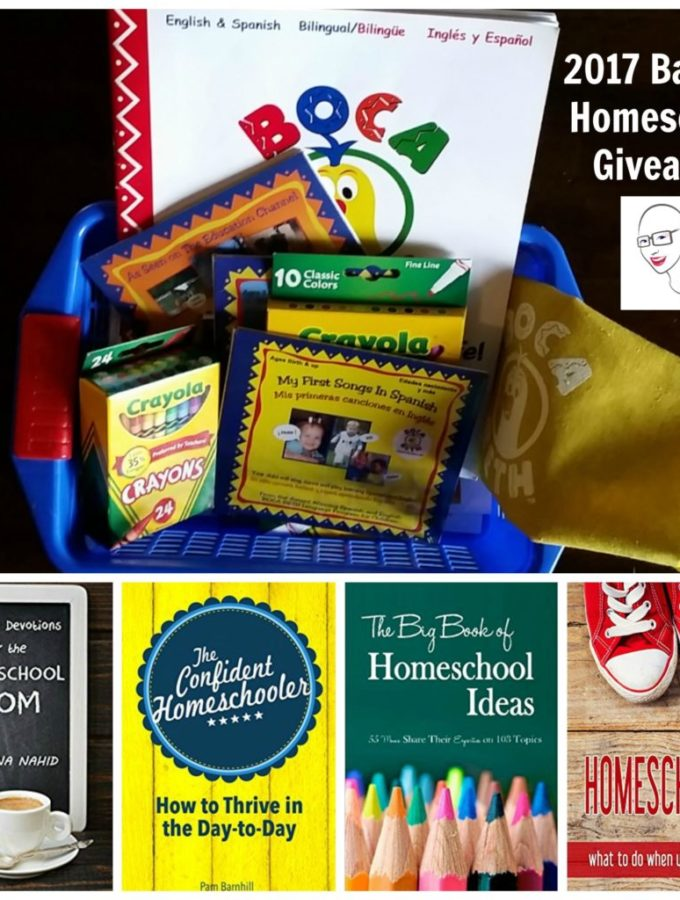 2017 Back to Homeschool Giveaway