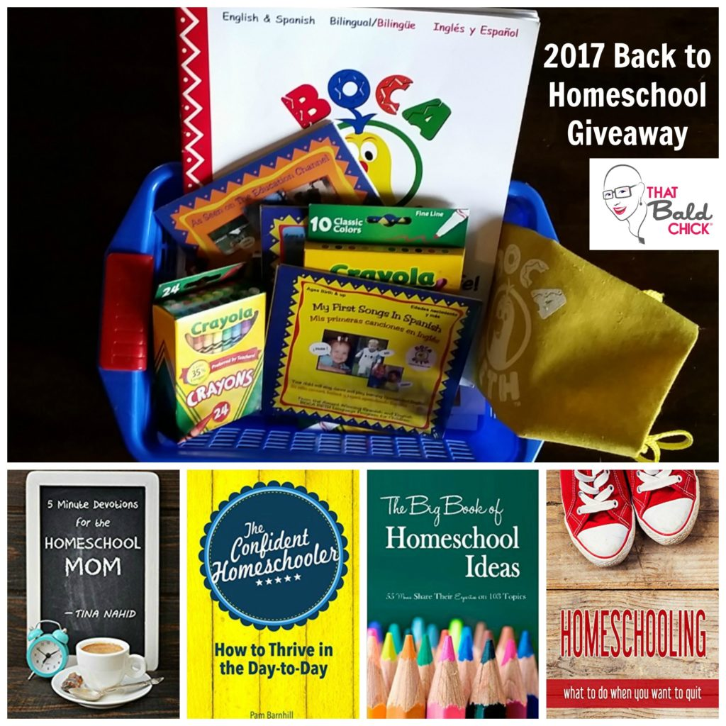 2017 Back to Homeschool Giveaway at That Bald Chick