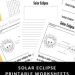 Solar Eclipse Printable Worksheets