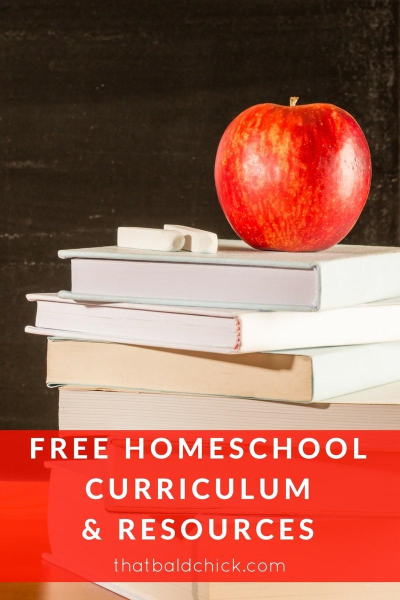 free homeschool curriculum and resources at thatbaldchick.com