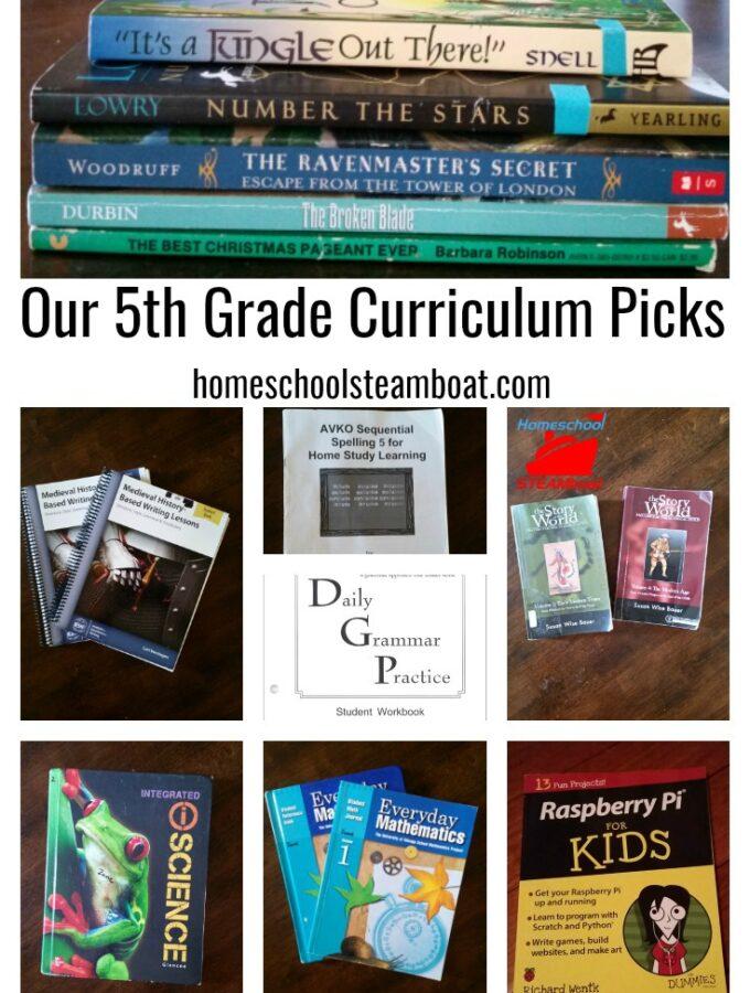 Our 5th Grade Curriculum Picks