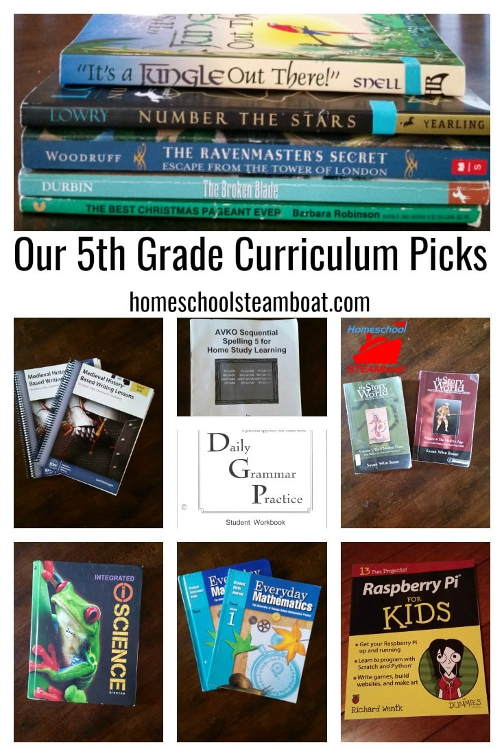 Our 5th Grade Curriculum Picks at homeschoolsteamboat.com