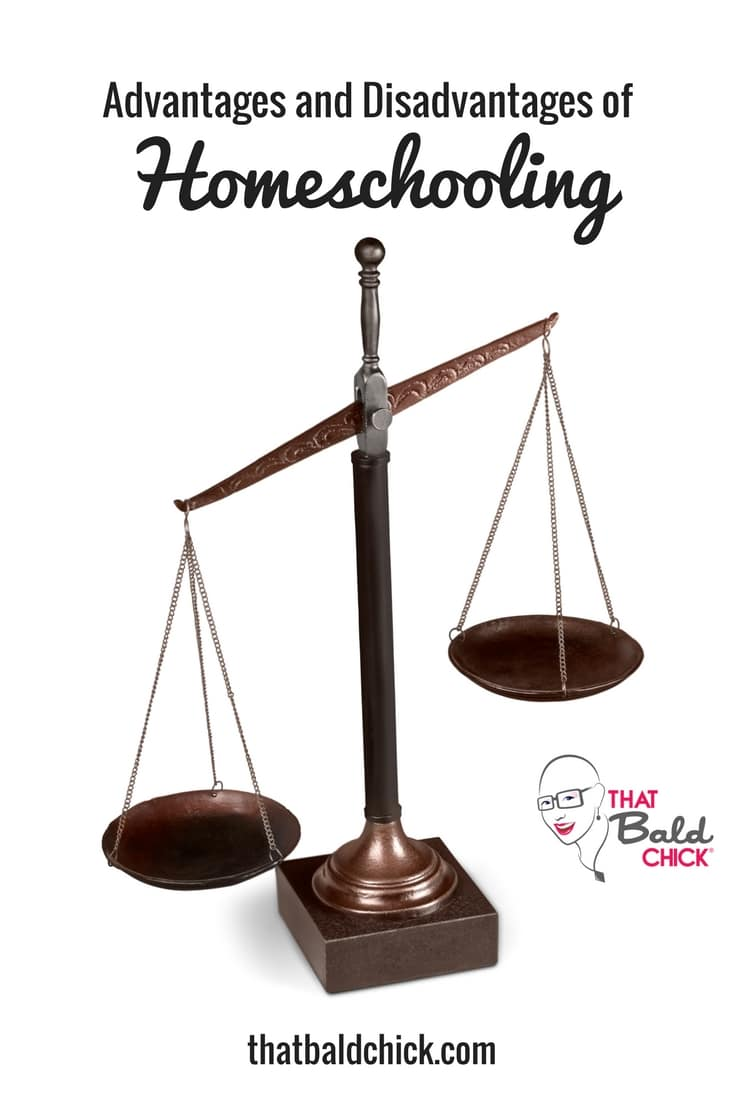 Learn the Advantages and Disadvantages of Homeschooling at thatbaldchick.com #homeschool #homeschooling