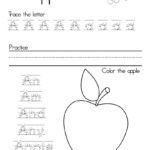 Letter A Alphabet Writing Practice