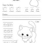 Letter C Alphabet Writing Practice