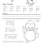 Letter P Alphabet Writing Practice