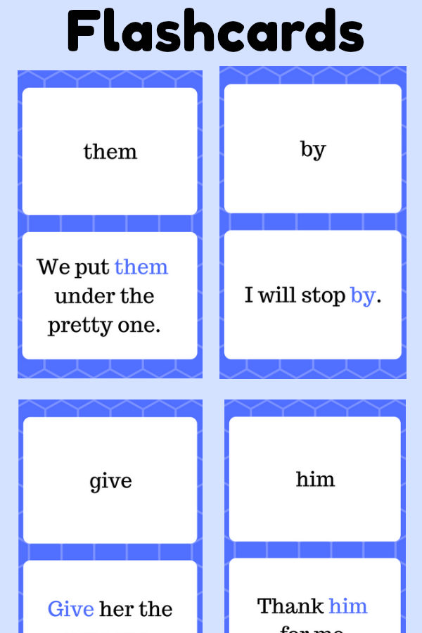 First Grade Sight Word Flashcards at thatbaldchick.com