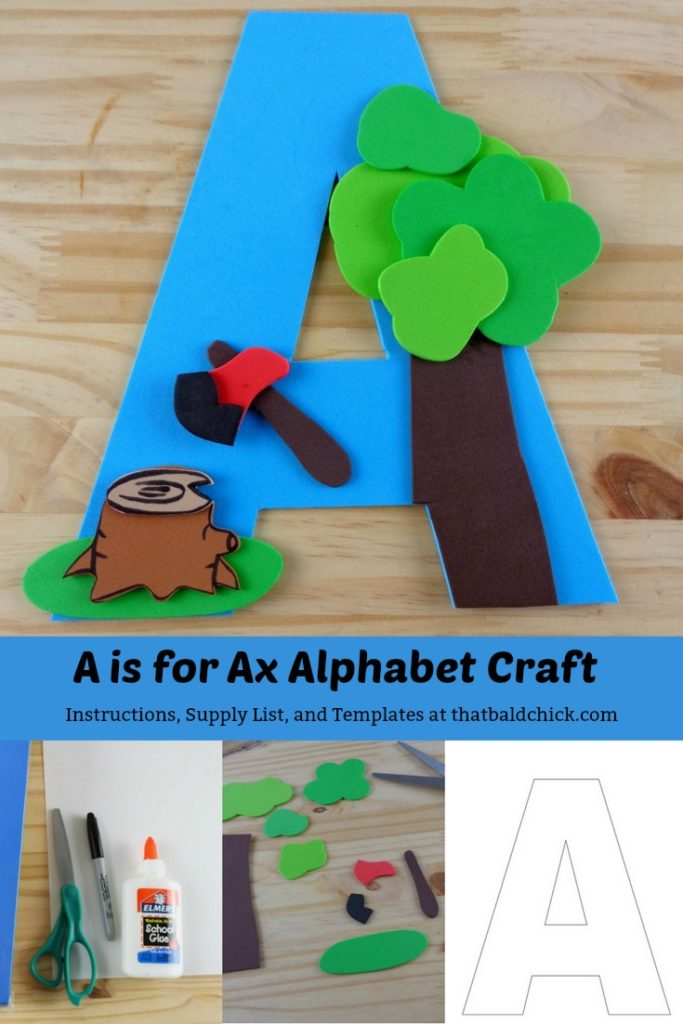 A is for Ax Alphabet Craft